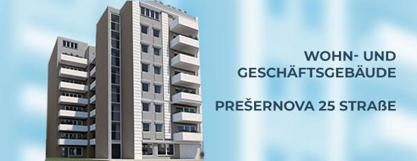 Die FormaPharm Gruppe hat mit den Bauarbeiten für ein Wohn- und Geschäftsgebäude begonnen- Das Projekt Prešernova 25
